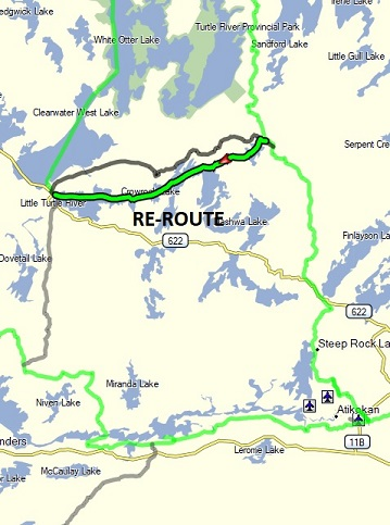 Re-route to White Otter Loop